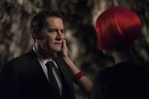 Kyle MacLachlan as Agent Dale Cooper and Laura Dern as Diane prepare to go all the way in search of Laura Palmer.