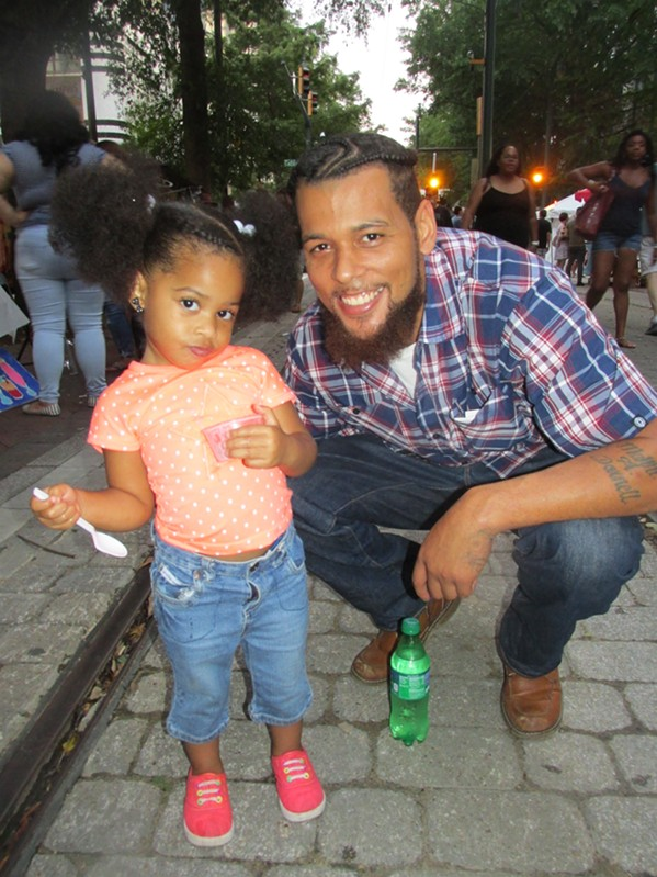 Michael Darnell and Lyric, 2, at Center for Southern Folklore Memphis Music & Heritage Festival. - MICHAEL DONAHUE