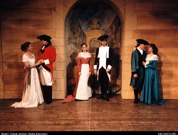Charles Billings in The Rivals (Center, forward facing). McCoy Theatre, Rhodes College.