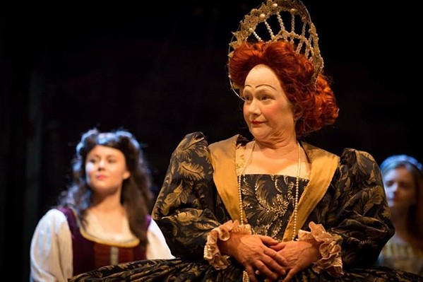 Queen Ann (Marie Hall) as Lizzy-1 in Shakespeare in Love. - QUEEN CARLA