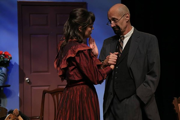 Shannon Walton and Mark Pergolizzi in A Doll's House, Evergreen Theatre. - JLAPPIN PHOTOGRAPHY