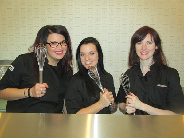 Two Girls and a Whip soft opening. With whisks. - MICHAEL DONAHUE