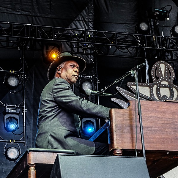 Booker T. Jones at MemphoFest Saturday. - JON W. SPARKS