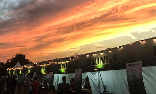 Sunset at Saturday's MemphoFest.