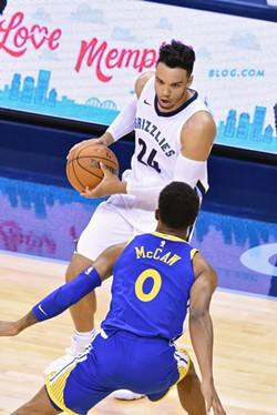 Dillon Brooks has played well, but few of the Grizzlies' other young guys look ready to play. - LARRY KUZNIEWSKI