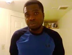 Johnson, in a Facebook video, on day 12 of his hunger strike this summer. - FACEBOOK