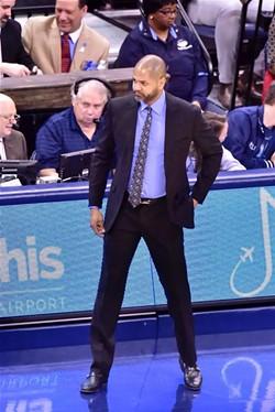 JB Bickerstaff got his first win as Grizzlies interim head coach. - LARRY KUZNIEWSKI