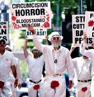 'Bloodstained Men' Protest Circumcision at U of M