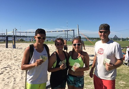 @901Volleyball: 3rd Wheel Coed 3v3 Sand Volleyball Tournament