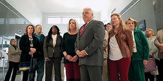 Vontyna Durham White (second to the left of Republican mayoral candidate Terry Roland), is running as a Democrat for county commission but has antagonized fellow Democrats by her support for Roland.