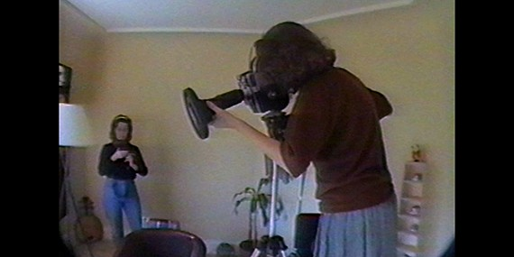 Lynne Sachs shooting Film About a Father Who