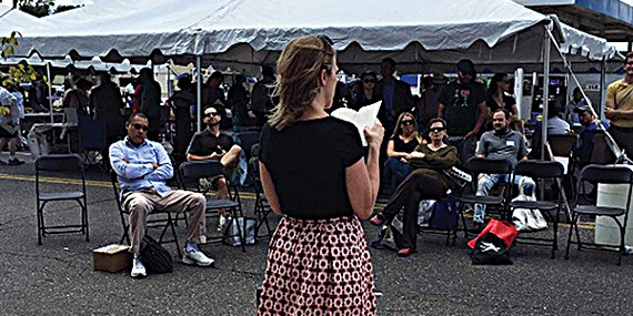 For two days Overton Square was alive with the voices of poets and writers at the second annual Mid-South Book Festival.