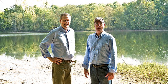Keith Cole and Bob Wenner (l to r) of the Wolf River Conservancy