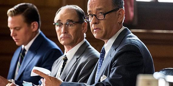 Hanks plays a hero in Bridge of Spies.