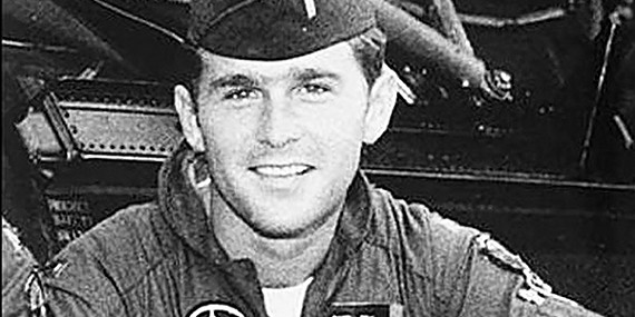 Former President George W. Bush as a National Guardsman.