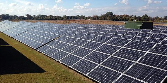 The five-megawatt West Tennessee Solar Farm.