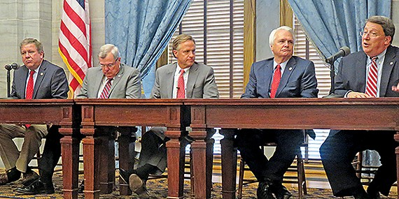 McCormick, Johnson, Haslam, Ramsey, and Norris wrap up the legislative session in Nashville.
