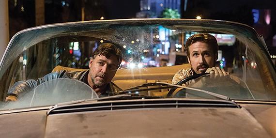Russell Crowe (left) and Ryan Gosling in The Nice Guys.
