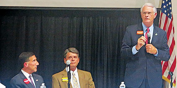 Candidates Kustoff, Leatherwood, and Luttrell at last week's Agricenter forum
