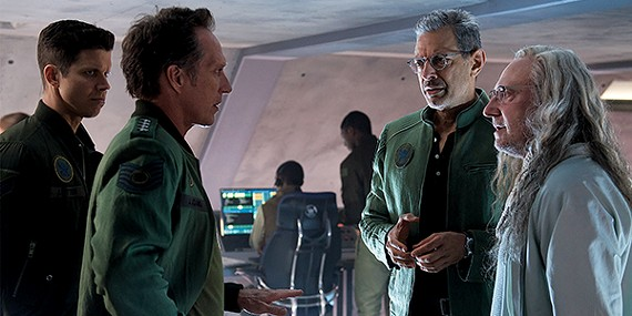 William Fichtner, Jeff Goldblum, Brent Spiner have got to save the world from aliens (again).