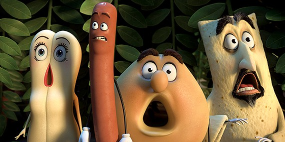 Food play is okay in Seth Rogen and Evan Goldberg's raunchy new animated comedy, Sausage Party.