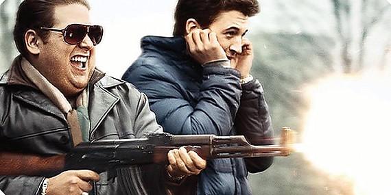Jonah Hill (left) and Miles Teller play gun-running sociopaths in Todd Phillips' War Dogs.