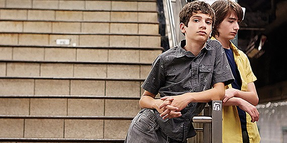 Michael Barbieri (left) and Theo Taplitz are the lead duo in Ira Sachs' new film, Little Men.