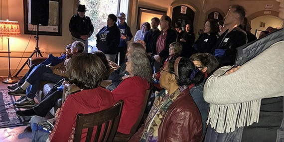 Some of the crowd at the Abe Goodman Clubhouse on Sunday