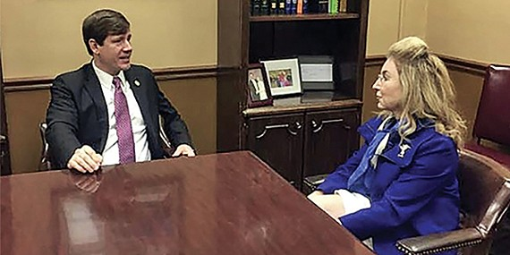 State Senator Brian Kelsey met in Nashville on Tuesday with County Commissioner Heidi Shafer to discuss the county's legislative agenda.