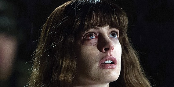 Anne Hathaway and Jason Sudeikis wrestle with life's issues in Nacho Vigalondo's new film Colossal.