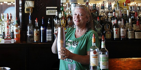 Ginger serves up drinks and memories at Old Zinnie's.