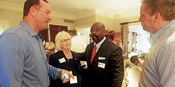 GOP candidates David Lenoir (County Mayor), Mae Beavers (Governor), Robert Hill (Juvenile Court Clerk), and Dale Lane (Sheriff) hobnobbed at a weekend forum.