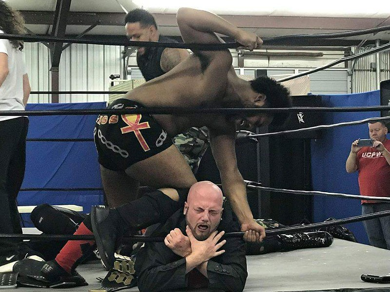 Kevin Bless chokes Tommy Jax during a UCPWS match. The independent wrestling promotion based in Holly Springs is coming to Memphis to hold matches twice a month at Rec Room.