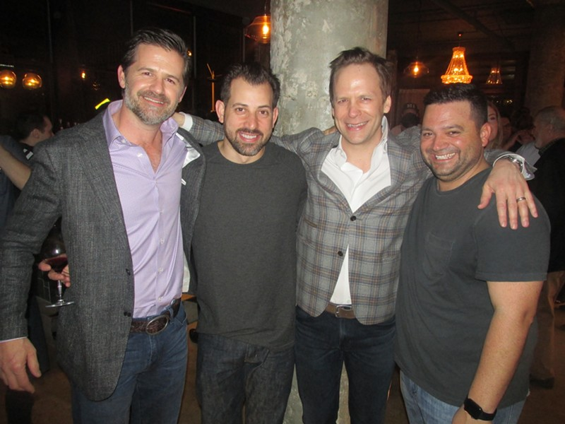 Bubba Ezell, Andrew Ticer, Mark Parker and Michael Hudman at The Gray Canary grand opening. - MICHAEL DONAHUE