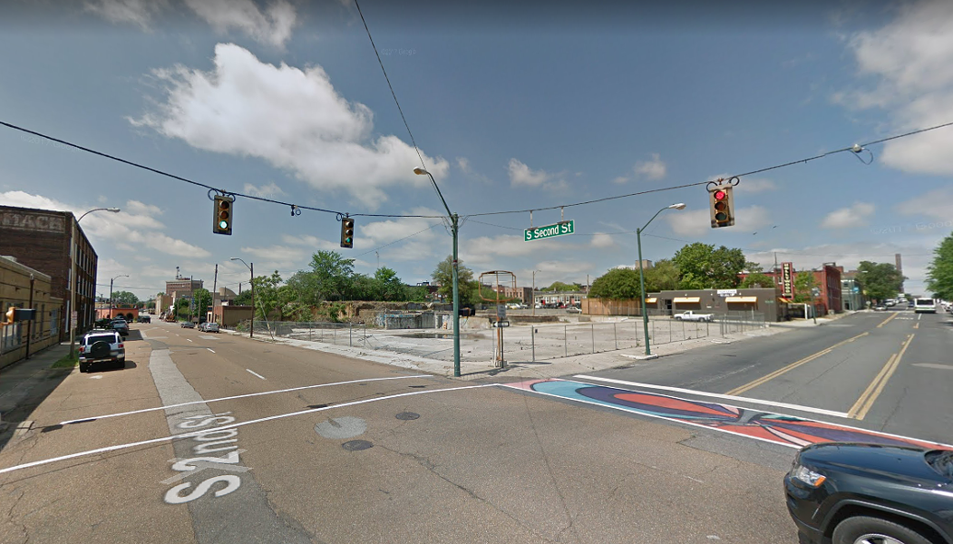 Developers want to build a six-story hotel on this site close to South Main. - GOOGLE MAPS
