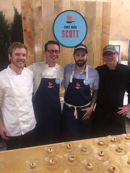 Nick Scott, second from left, was among the participating chefs at the June 8 Le Bon Apetit fundraiser. - MICHAEL DONAHUE