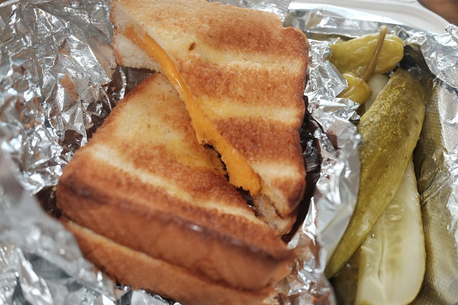 Grilled cheese at the Rendezvous - MICHAEL DONAHUE