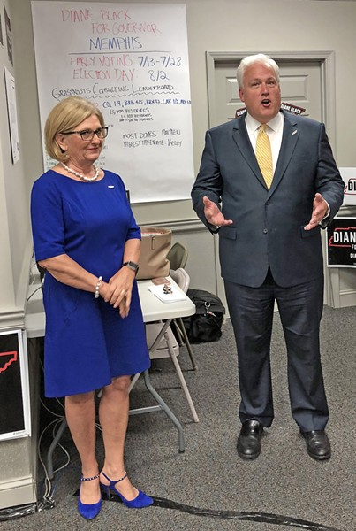 U.S. Rep. Diane Black and American Conservative Union chairman Matt Schlapp, who endorsed her gubernatorial candidacy, engaged in some mutual admiration on Monday. - JB
