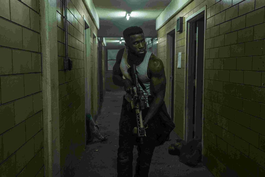 Director Gerald McMurray channels Die Hard with Y'Lan Noel in The First Purge.