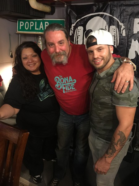 "Diana Fryer, Ric Chetter and Clay Markley at Markley's ""Kill Me"" listening party - MICHAEL DONAHUE"
