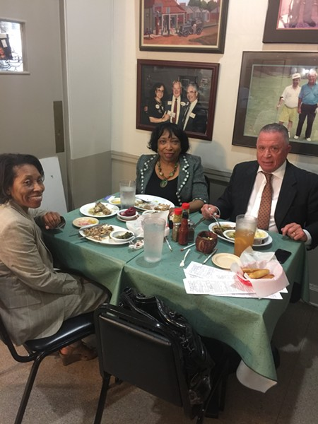 Harold Ford, Judge Bernice Donald and Virginia Wilson at Little Tea Shop. - MICHAEL DONAHUE