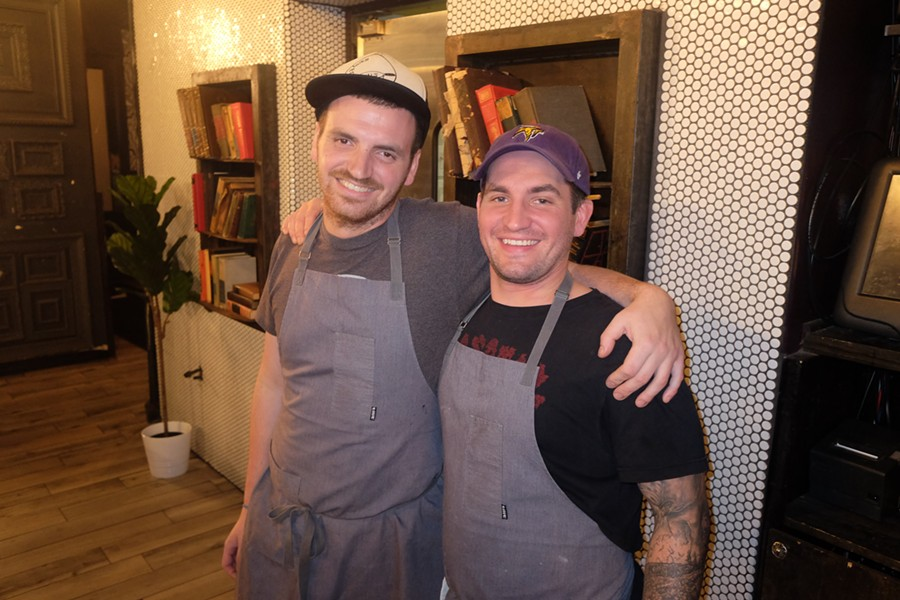 Chefs Spencer Coplan and Trevor Anderson at a Wok'n in Memphis pop up at Silly Goose. - MICHAEL DONAHUE