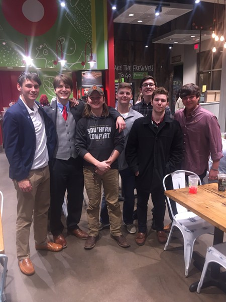 """Members of Kappa Sigma fraternity from University of Memphis held its """"Autumn Leaves"""" fundraiser for St. Jude's Up Till Dawn. - MICHAEL DONAHUE"""