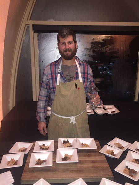 Cole Ellis at Wine & Dine. - MICHAEL DONAHUE