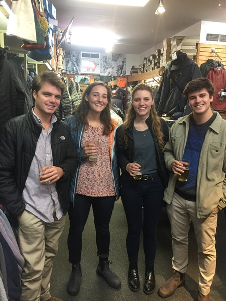 Pints for a Purpose  to benefit Wolf River Conservancy was held Dec. 11 at Outdoors Inc. on Union. - MICHAEL DONAHUE