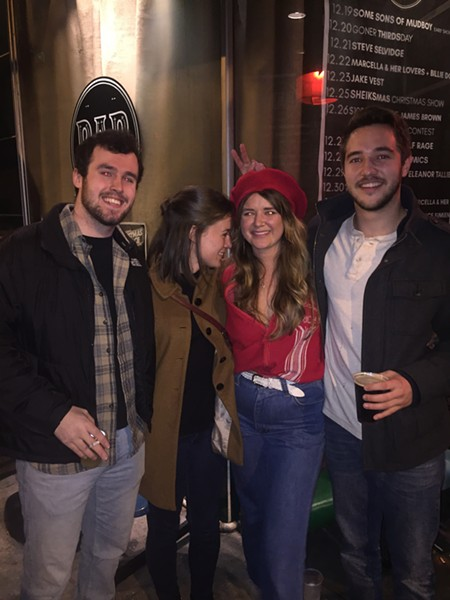 Konar Chapman, Elizabeth McDonnell, Mary Phifer and - Jonah McDonnell at The Sheiks show on Christmas night at DKDC. - MICHAEL DONAHUE
