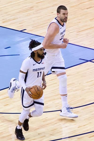 The Grizzlies' dynamic duo. - LARRY KUZNIEWSKI