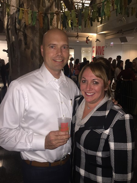Bradley and Emily Rice were at the Vive le Brooks! launch party. - MICHAEL DONAHUE