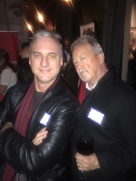 Chris McCoy and Bruce Van Wyngarden at the 20 Under 30 reception. - MICHAEL DONAHUE