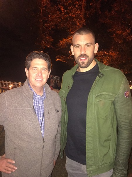 Dixon Gallery and Gardens director Kevin Sharpe and Marc Gasol at Art on Fire. - MICHAEL DONAHUE